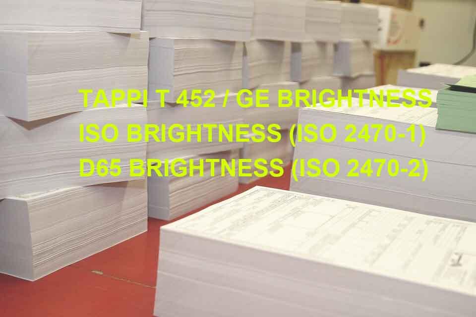 理解纸张白度T452/GE |ISO|D65 Brightness